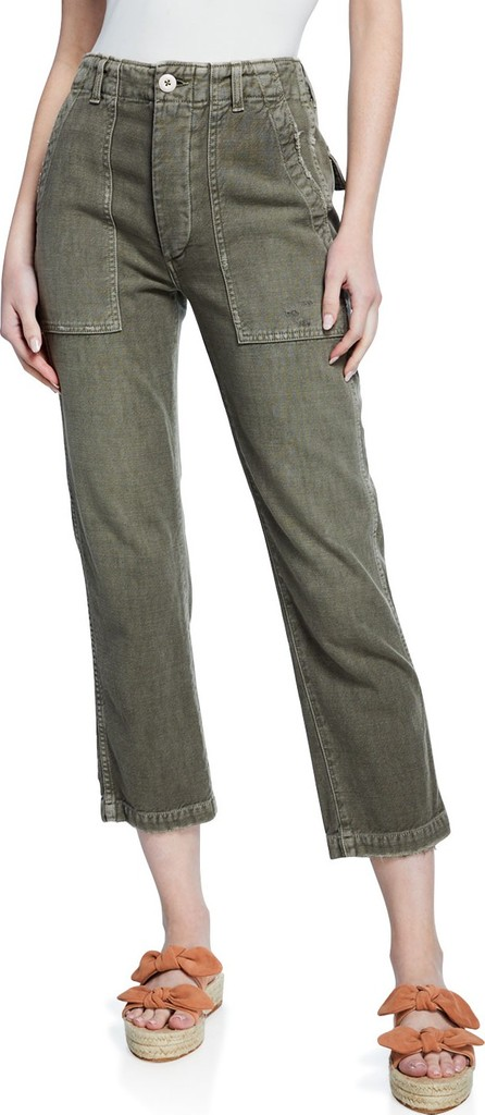 AMO Army Cropped High-Rise Pants