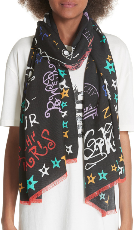 Givenchy Tour Date Wool & Silk Scarf