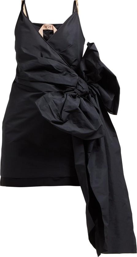 Nº21 Side bow-embellished twill mini dress