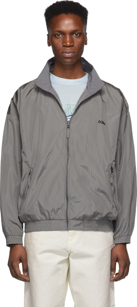 032c Reversible Silver Nylon Track Jacket