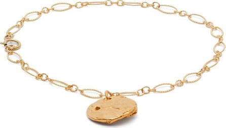 Alighieri Coin-charm 24kt gold-plated anklet