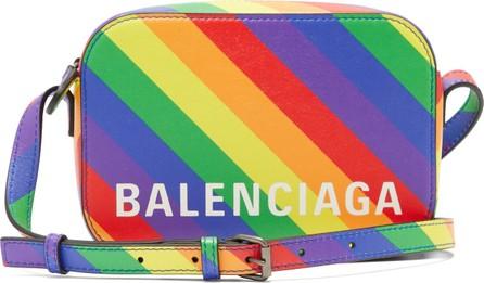 Balenciaga Ville XS rainbow-stripe leather cross-body bag