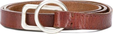 Golden Goose Deluxe Brand Slim geometric buckle belt