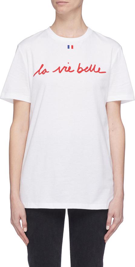 Etre Cecile 'La Vie Belle' slogan print T-shirt