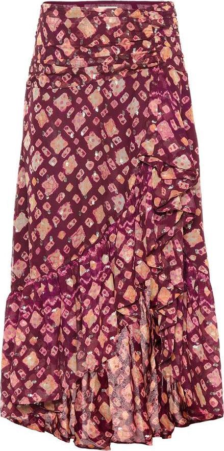 Ulla Johnson Alie silk-blend fil coupé skirt