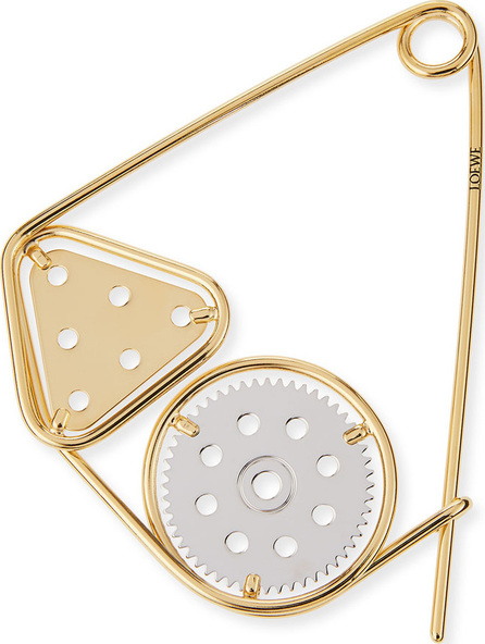 LOEWE Meccano Double Pin for Handbag, Silver/Gold