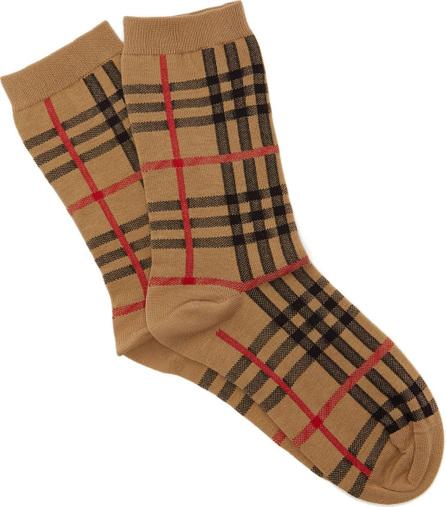 Burberry London England Vintage check cotton-blend socks