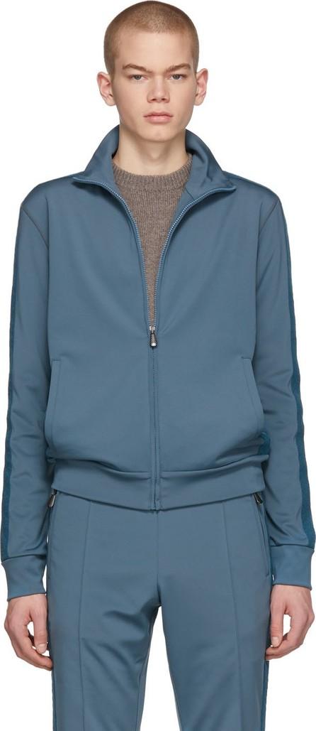 Bottega Veneta Blue Jersey Zip-Up Sweater