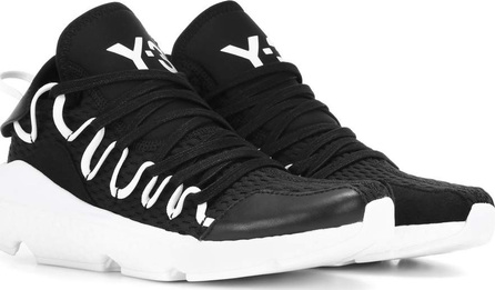 Y-3 Kusari leather-trimmed sneakers
