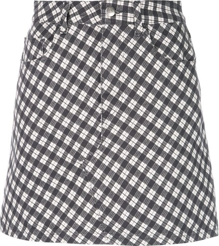 Alexachung checked denim skirt