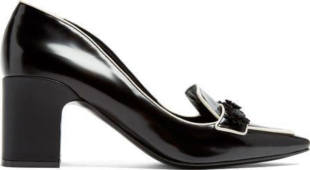 Fabrizio Viti Daisy block-heel leather loafers
