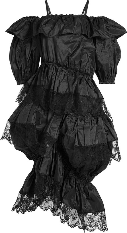 Simone Rocha Silk Dress with Lace Trims