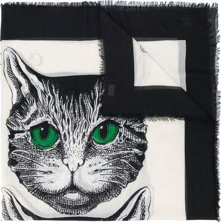 Gucci Mystic Cat print shawl