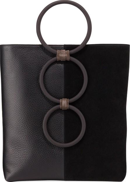 Carolina Santo Domingo Petra Mini Leather/Suede Ring Tote Bag