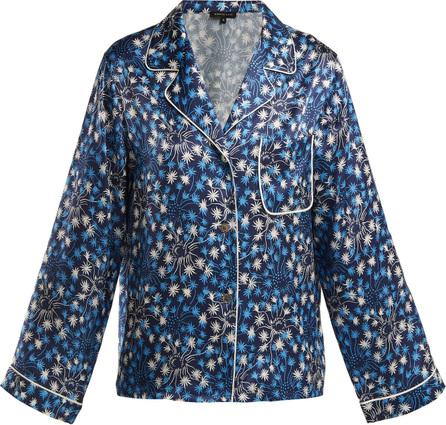 Morgan Lane Jayne dandelion-print silk pyjama top