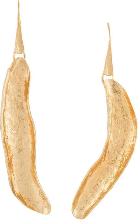 Forte Forte Leaf-shaped pendant earrings