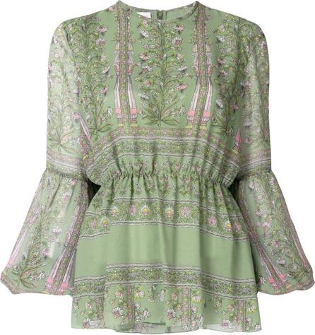 Giambattista Valli Floral print peasant blouse