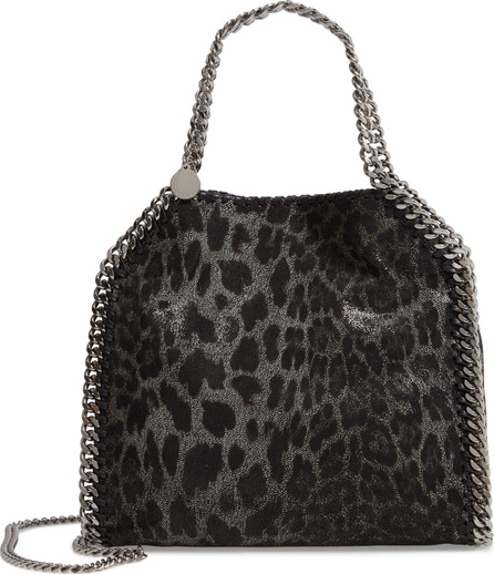 Stella McCartney Mini Falabella Leopard Print Faux Leather Tote