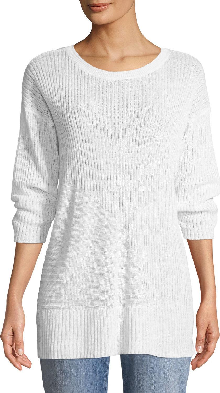 Eileen Fisher - Organic Linen 3/4-Sleeve Easy Tunic