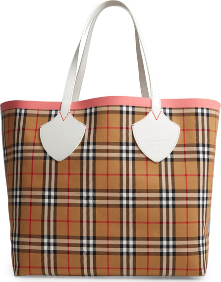 Burberry London England Giant Check Reversible Tote