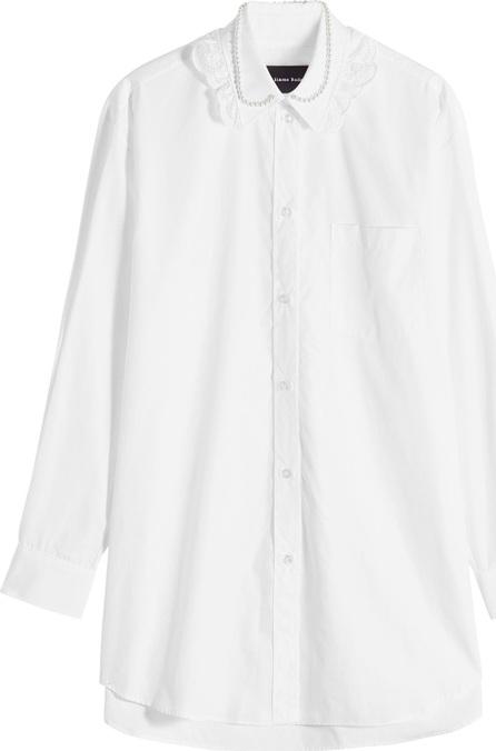 Simone Rocha Cotton Shirt with Embellished Collar