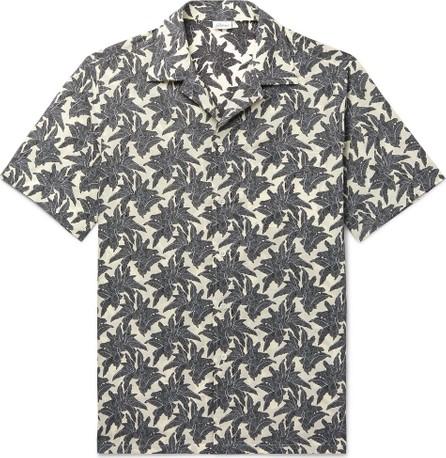 Brioni Camp-Collar Printed Linen and Cotton-Blend Shirt