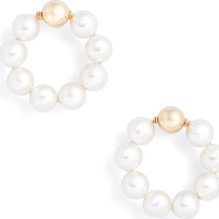Beck Jewels OG Beaded Hoop Earrings