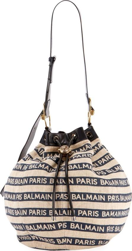 Balmain Medium Canvas Bucket Bag