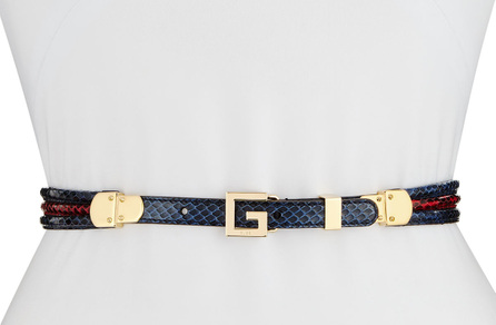 Gucci Snakeskin Square G Belt