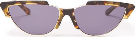 Karen Walker Tropics Crazy Tort cat-eye sunglasses