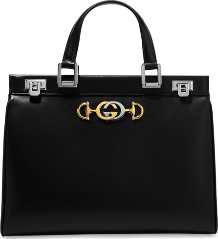 01ccc0f88 Gucci Bree Large Double-Handle Leather Tote, Chocolate - Mkt