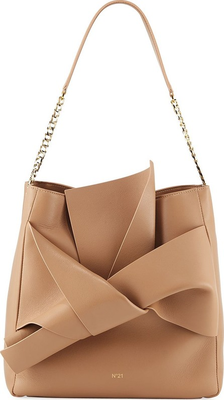 Nº21 Napa Leather Bow Hobo Bag