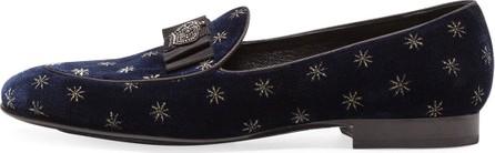 Dolce & Gabbana Men's Star Velvet Formal Slippers