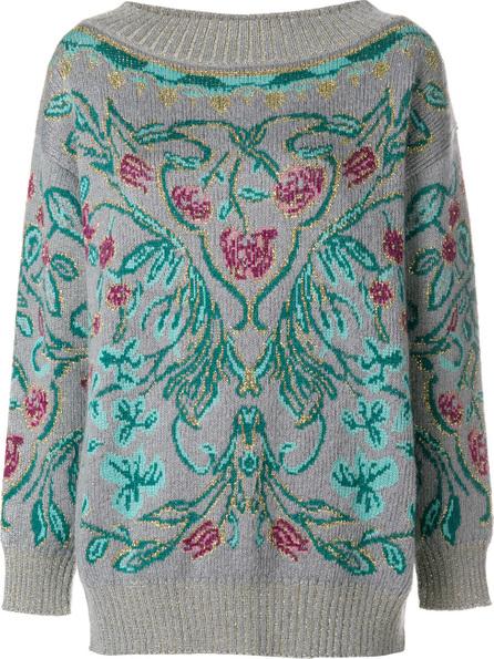 Alberta Ferretti Floral intarsia jumper