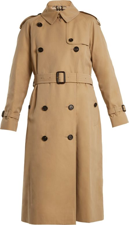 Burberry London England Westminster mid-weight cotton trench coat