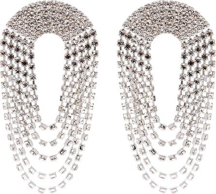 Alessandra Rich Draped crystal earrings