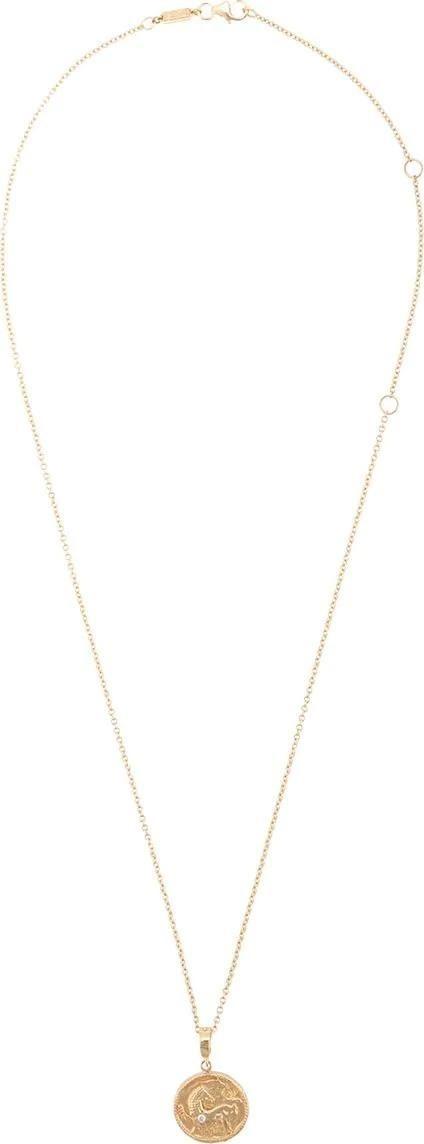 Azlee Animal Kingdom Diamond Coin Necklace