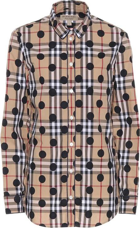 Burberry London England Polka-dot Check cotton shirt