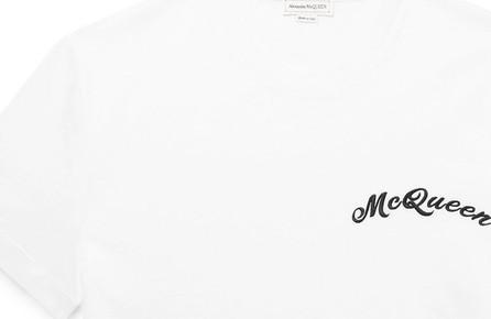 Alexander McQueen Logo-Embroidered Cotton-Jersey T-Shirt