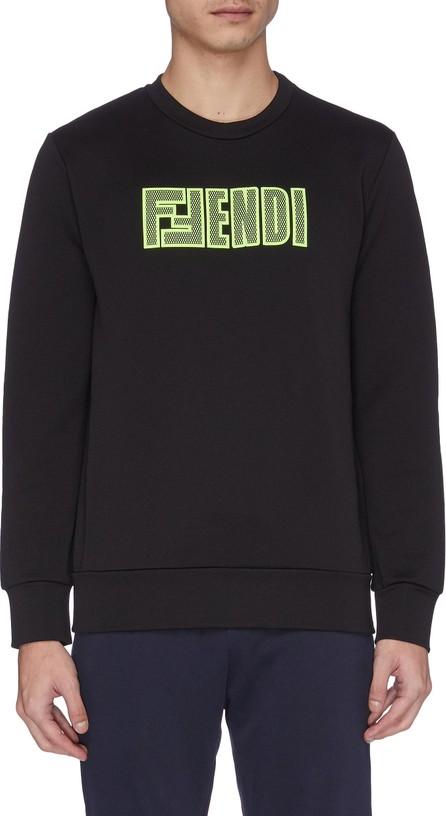 Fendi Logo appliqué sweatshirt