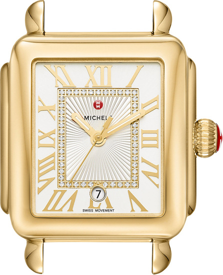MICHELE 18k Gold Deco Madison Diamond Watch Head