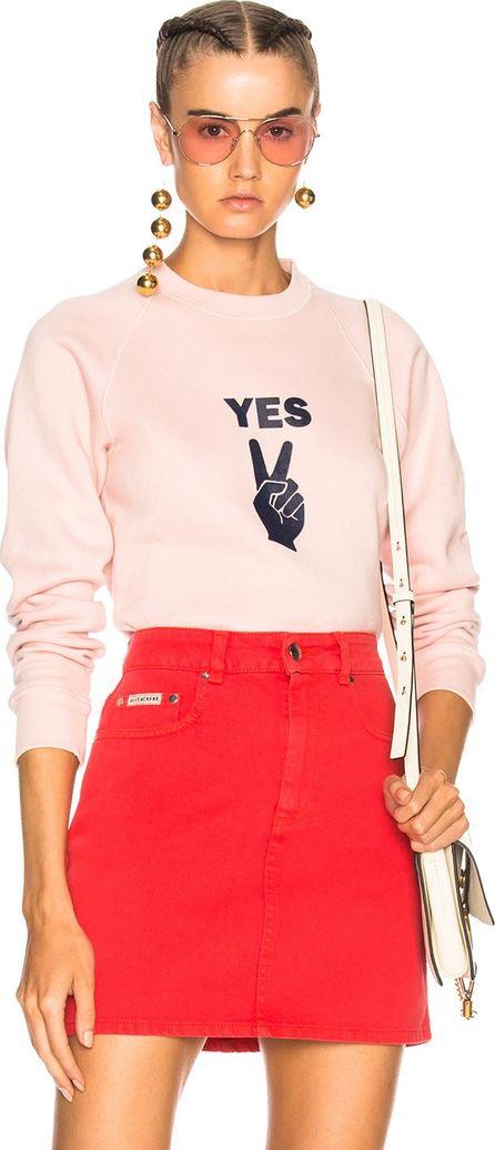 Alexachung YES Peace Sign Flock Print Sweatshirt