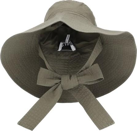 Ganni Woven cotton wide-brim hat