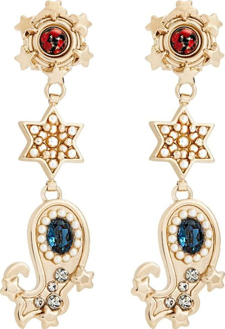 Etro Crystal-embellished paisley motif earrings