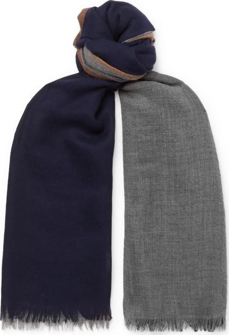 Brunello Cucinelli Colour-Block Cashmere and Silk-Blend Scarf