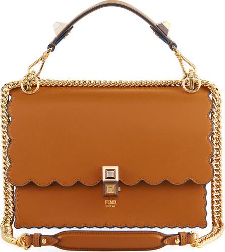 Fendi Kan I Regular Leather Scalloped Shoulder Bag