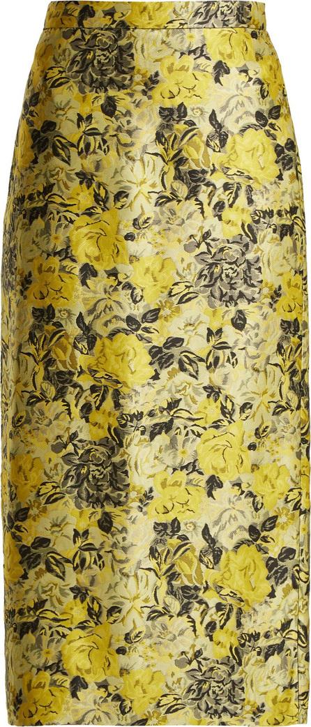 Erdem Maira floral jacquard pencil skirt