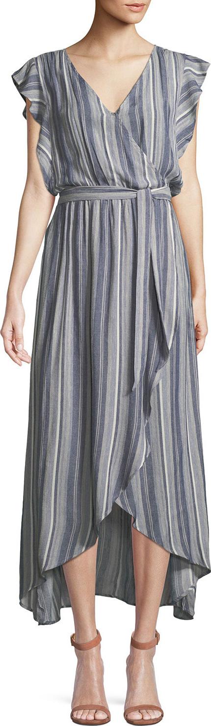 b20263ce7b9 Splendid Striped Tulip-Sleeve Chambray Maxi Dress