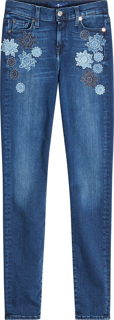 7 For All Mankind The Skinny Embroidered Jeans