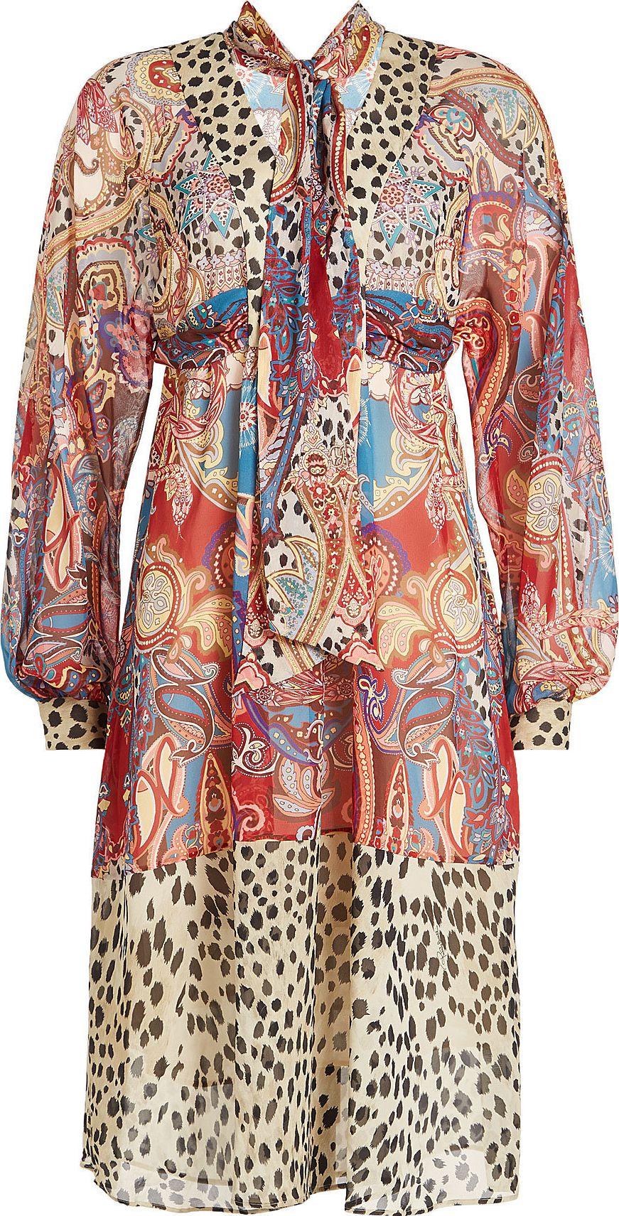 Roberto Cavalli - Printed Silk Dress